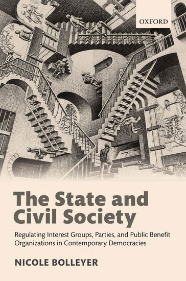 <a href='https://global.oup.com/academic/product/the-state-and-civil-society-9780198758587?cc=gb&lang=en&'>The State and Civil Society: Regulating Interest Groups, Parties, and Public Benefit Organizations in Contemporary Democracies</a> (2018)<br />Nicole Bolleyer