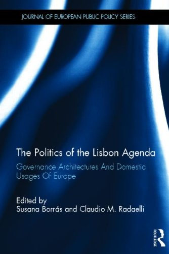 The Politics of the Lisbon Agenda: Governance Architectures and Domestic Usages of Europe (also published as special issue of Journal of European Public Policy, vol 18 issue 4, June 2011) (2011)<br /><a href='http://socialsciences.exeter.ac.uk/politics/staff/radaelli/'>Claudio Radaelli</a>