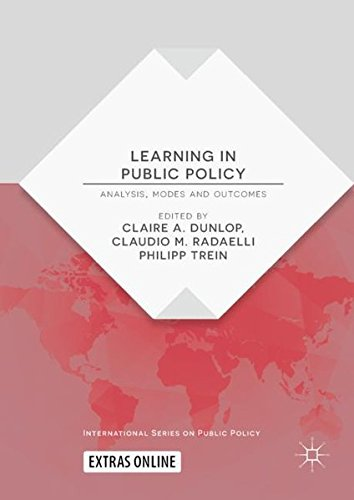 <a href='https://www.palgrave.com/de/book/9783319762098'>Learning in Public Policy: Analysis, Modes and Outcomes</a> (2018)<br />Editors: Claire Dunlop and Claudio Radaelli and Philipp Trein