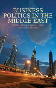 Business Politics in the Middle East  (2013)<br />Steffen Hertog, Giacomo Luciani and <a href='http://socialsciences.exeter.ac.uk/iais/staff/valeri/'>Dr Marc Valeri</a>